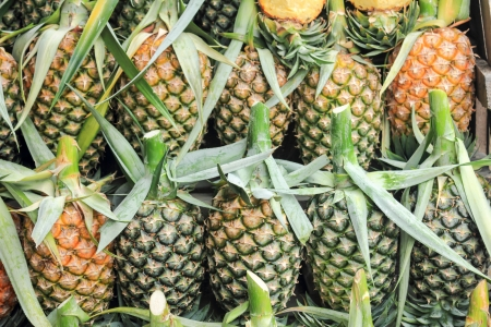 ripeness: Pineapple for sale.