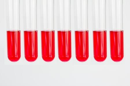 biochemical: Glass tube used in biochemical analysis. Stock Photo