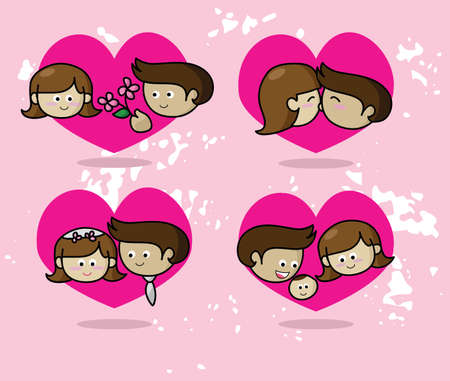 Love story, Couple in love Vector