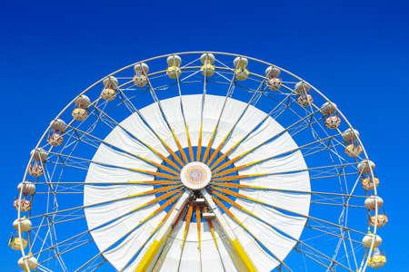 Ferris wheel with blue sky. photo