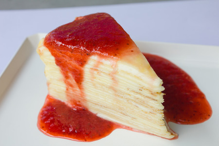 Strawberry crape cake photo