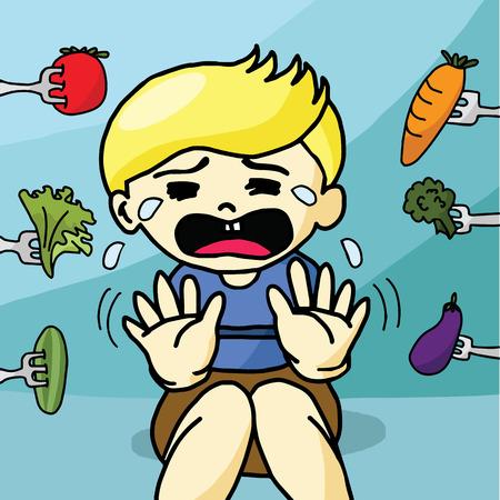negar: El ni�o no le gusta la comida sana