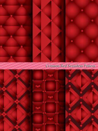crimson: Crimson Red Seamless Pattern. Illustration