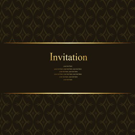 Invitation card vector design