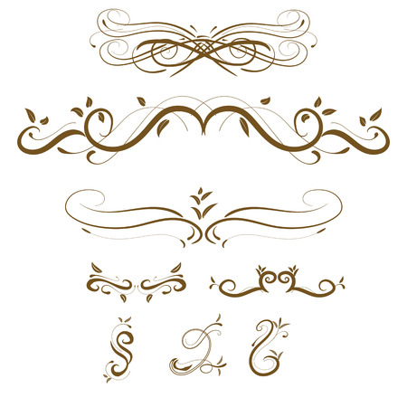 decorative design: Vector decorative design elements  page decor