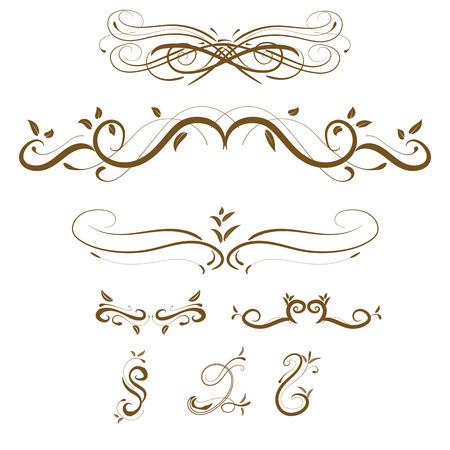 Vector decorative design elements  page decor