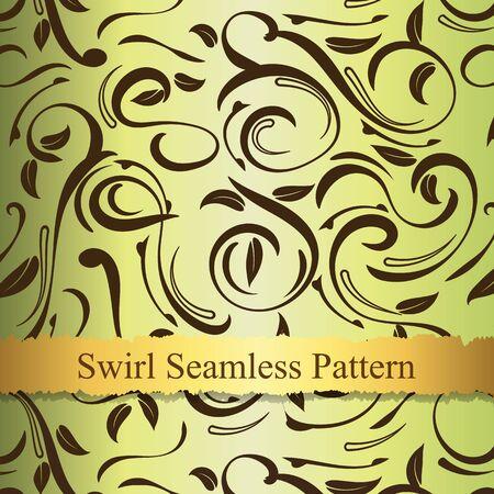 swirl: Vector swirl seamless pattern Illustration