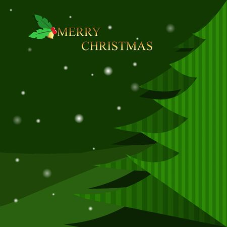 wintertime: Christmas tree on wintertime