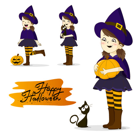 Cartoon Halloween Character Isolated on White Background