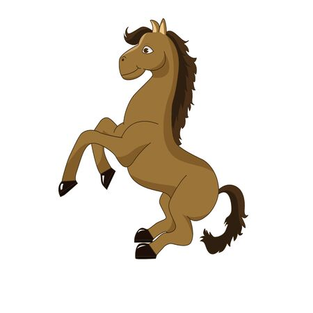 Jumping horse cartoon vector