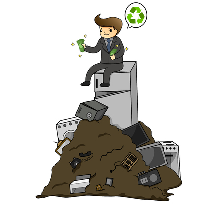 Businessman get rich from waste electrical by recycling
