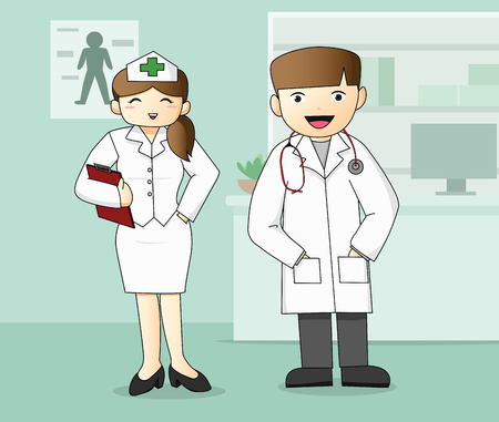 Medical Staff, Doctor and Nurse