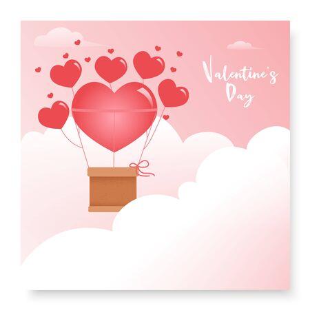 Cute romantic postcard for Valentine's Day Illustration