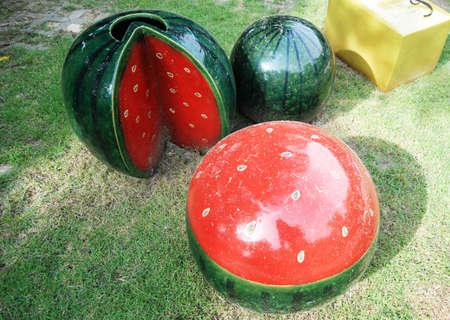 ceremic: watermelon Stock Photo