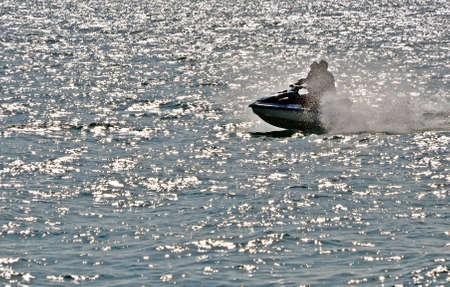 jetski: Jetski in the sea