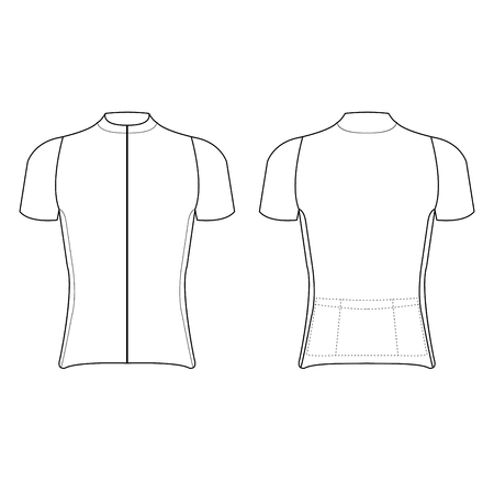 cycling jersey design blank of cycling jersey vector illustration