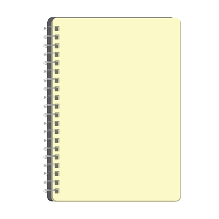 Notebook mit leerer Seite-Vektor-illustration