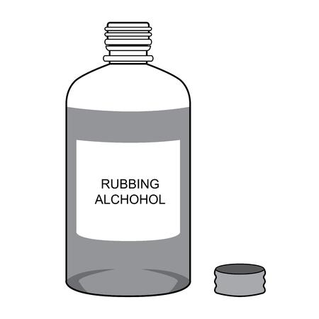 Rubbing Alcohol  Vector isolate on white Illusztráció