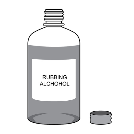 Rubbing Alcohol  Vector isolate on white Illustration