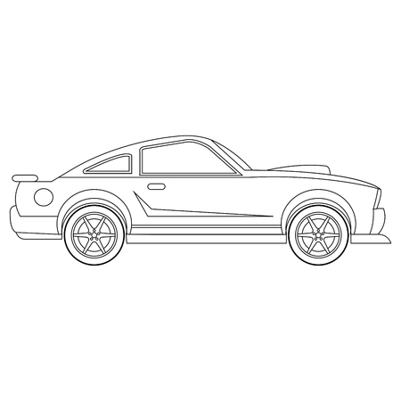 Auto vector auto kleurplaat illustratie Vector Illustratie