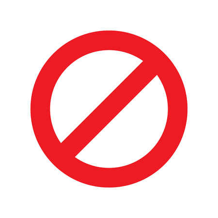 do not sign on white background vector illustration