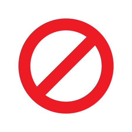 No firme en la ilustración de vector de fondo blanco