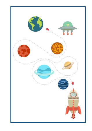 Tracing Lines vettore di gioco per la scuola materna o la scuola materna e l'istruzione speciale. Tracciare linee per lo sviluppo delle capacità motorie fine