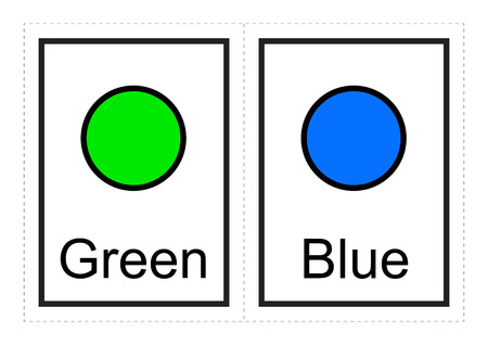 Color Flash Cards for kids Learn about colors and their names with these simple printable illustration