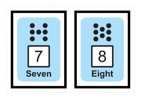 Learn Numbers and counting for Toddlers Numbers for Kids vector illustration