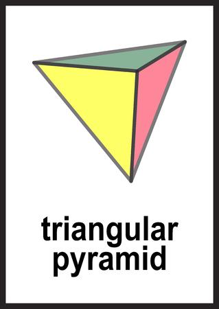 3d shapes flashcards on white background vector illustration Illustration