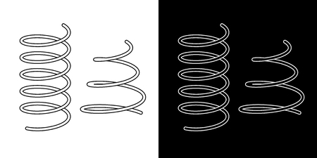 Coil spring cable icons coil spring symbol on white background vector illustration