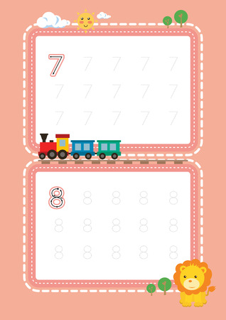 Free handwriting Numbers tracing pages for writing numbers Learning numbers, Numbers tracing worksheet for kindergarten
