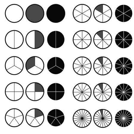 Matematica delle frazioni Calcolatrice delle frazioni Semplificare le frazioni su sfondo bianco illustrazione vettoriale Vettoriali