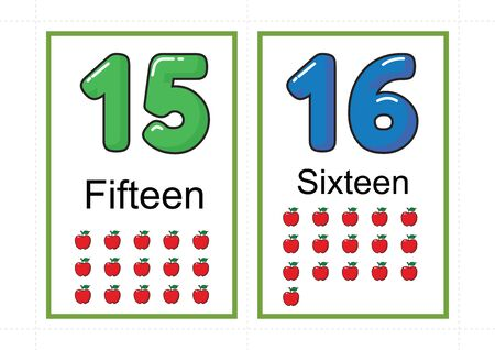 printable number flashcards for teaching number, flashcards number, a4 with dotted line cut
