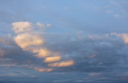 Beautiful sunset sky clouds  evening sky  View from the Ground picture