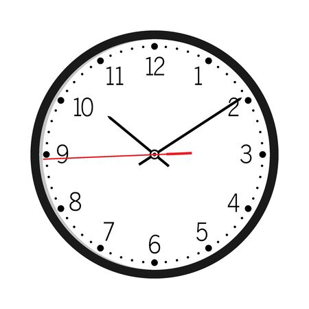 Wall Clock isolated on white background vector illustration Wall Clock vector