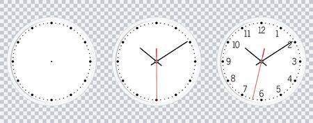 Wall Clock isolated on transparent background vector  Wall Clock vector