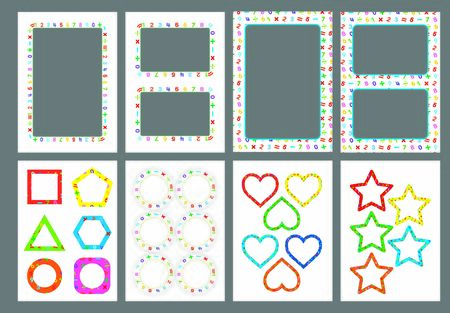 Decorative  frames and borders set vector illustrations
