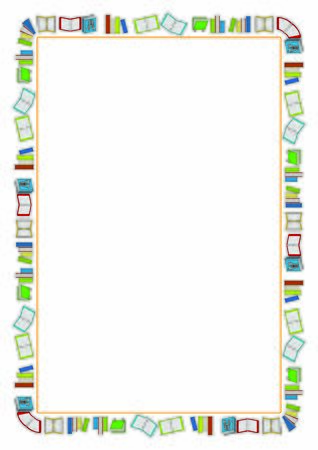 frame with back to school theme elements. School theme frame. Education theme borders