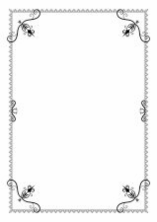 Decorative frames. Retro ornamental frame, vintage  border. Calligraphic design elements borders and frames.