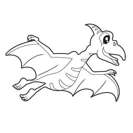 dinosaur colouring page. Cute dinosaur coloring page. Cartoon dinosaur colouring page. Illustration