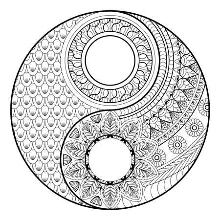Coloring madalas. adult coloring . madalas coloring  on white background. Mandalas art therapy & healing.
