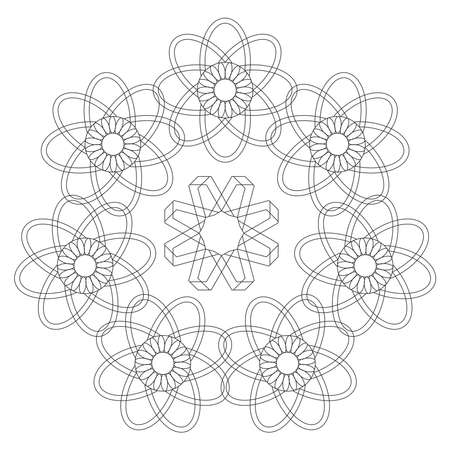 Coloring madalas. adult coloring . madalas coloring  on white background. Mandalas art therapy & healing.