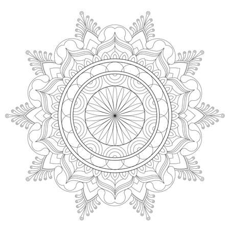 Madalas coloring page. Adult Coloring Page. Therapeutic coloring Page. Vectores