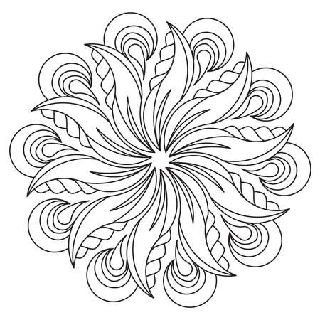 Madalas coloring page. Adult Coloring Page. Therapeutic coloring Page. Stock Illustratie