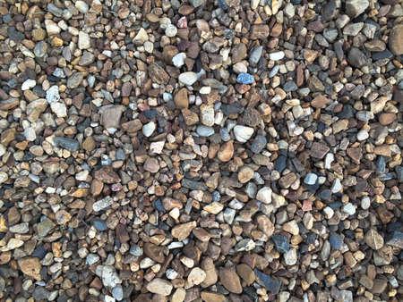 small pebble rock background texture. Natural rocks Foto de archivo