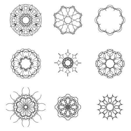 Abstract starburst or sunburst. firework explosion vector set. Vectores
