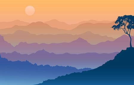 daybreak: Salida del sol en las cordilleras