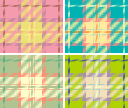Spring variant of tartan plaid. Seamless vector pattern