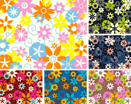 flower retro-styled background